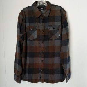 Vans Tailored Fit Button-Up Flannel Shirt Size L